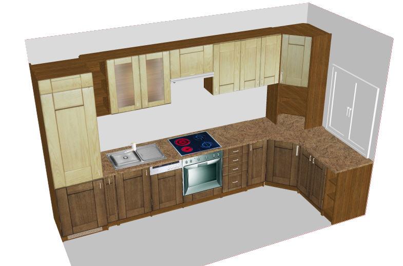 Przykładowy projekt mebli kuchennych