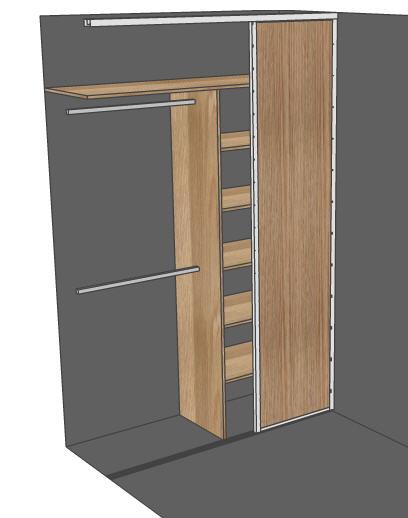 Przykładowy projekt szafy wnękowej